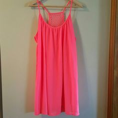 Summer Dress Hot coral colored summer dress NWOT Dresses Midi