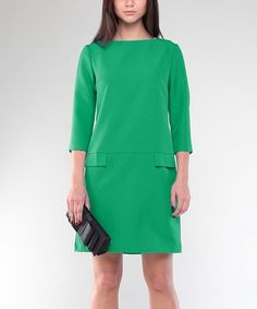 Another great find on #zulily! Emerald Pocket Sheath Dress - Plus Too #zulilyfinds
