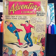 Look what found #adventureconics #superboy #clarkkent #dccomic