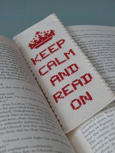 Cross Stitch Bookmark Pattern Keep Calm And by stageappealcrafts, $2.50