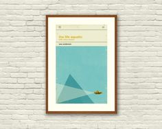 THE LIFE AQUATIC Inspired Poster, Art Print Movie Poster - 12 x 18 Minimalist, Nautical, Triangle, Hollywood Regency, Vintage, Retro Home - Love this print!