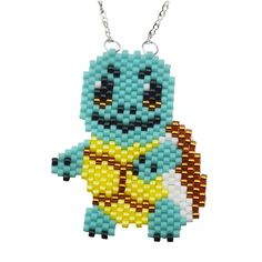 Pokemon Squirtle Necklace - Beading Projects & Tutorials - Beading…