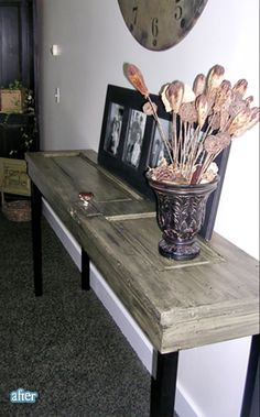 I love doors.  So of course, I LOVE this table!  (And I could totally build this!)