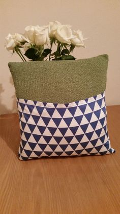 Back of the patterned cushion