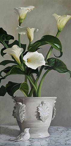 Elayne Kuehler (b.1948) — Calla Lilies (400x821)