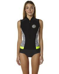 aa0a51bc5c New Rip Curl Women s G-Bomb Cap Sleeve Spring Suit Wetsuit Women s Steamer  Black