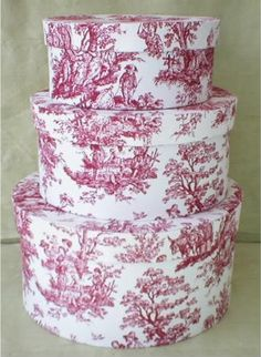 Red toile Waverly Garden fabrics - z