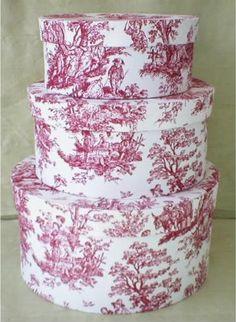 Red toile Waverly Garden fabrics - z