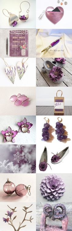 Purple and pink beauties by Mary on Etsy--Pinned with TreasuryPin.com