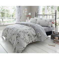 Birdie Blossom Grey Duvet Quilt Cover Bedding Set – Linen and Bedding Grey Duvet, Plaid Bedding, Linen Bedding, Bed Linens, White Bedding, Floral Bedding, Custom Bedding, Duvet Cover Sale, Cover