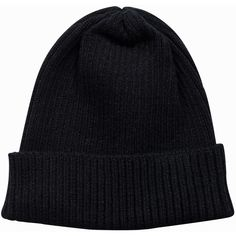 Nly Accessories Knitted Rib Beanie (115 SEK) ❤ liked on Polyvore featuring accessories, hats, accessories miscellaneous, black, womens-fashion, ribbed beanie, ribbed hat, black ribbed beanie, ribbed beanie hat and black beanie