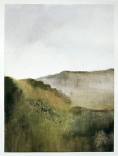 Original gouache painting abstract italian landscape. €150,00, via Etsy.