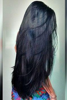 Long Straight Black Hair, Long Silky Hair, Long Dark Hair, Super Long Hair, Long Layered Hair, Black Hair Aesthetic, Long Indian Hair, Long Hair Video, Haircut For Thick Hair
