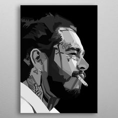 Post Malone WPAP Pop Art metal poster See amazing artworks of Displate artists printed on metal. Easy mounting, no power tools needed. Kunst Poster, Poster S, Poster Prints, Xxxtentacion Quotes, Post Malone Wallpaper, Pop Art Posters, Pop Art Portraits, Lil Wayne, Stencil Art