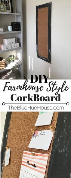Farmhouse Cork Board DIY Tutorial