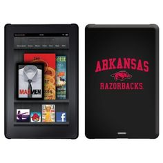Arkansas Razorbacks Mascot design on a Black Thinshield Case for Amazon Kindle Fire by Coveroo. $39.95. This hard shell polycarbonate case offers a slim fit form factor, while covering the back and sides of your Kindle Fire