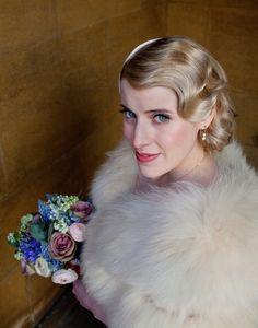 1920s waves, gatsby inspired upstyle  http://goodbyemiss.com/wedding/inspiration-wedding-hair