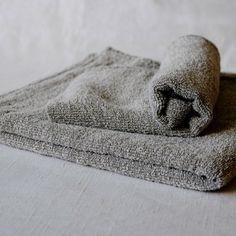 Grey Linen Terry Towel | Linen Tales
