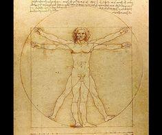 ダ・ヴィンチ『 ウィトルウィウス的人体図 』のマウスパッド:フォトパッド(世界の名画シリーズ) (横位置)