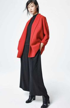 Eileen Fisher Jacket, Top & Pants Outfit with Accessories