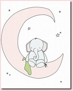 Elephant Nursery Art Nursery Decor Set of by SweetMelodyDesigns