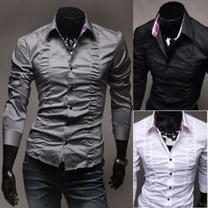 Camisa Masculina Drapeada