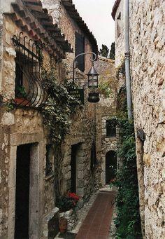 Beautiful narrow streets of Eze, Provence