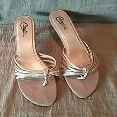 Candies size 8 med shoe Strappy heels Candie's Shoes Heels