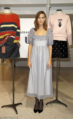 Checking out the wares! Alexa Chung ensured she was dressed to impress when she attended the UZwei Store Opening in Hamburg, Germany on Wednesday