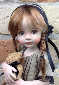 Allison,  Porcelain Doll Made From A Mold By Dianna Effner: