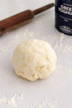 This Greek Yogurt Pizza Dough is quick and easy to make with a few staple ingredients, doesn't have yeast or a rise time, and produces tasty homemade pizzas! Customize these healthy pizzas with your favorite toppings, and enjoy them for lunch, dinner, or anytime a pizza craving hits! #pizza #pizzadough #greekyogurt #greekyogurtpizza #easypizza #noyeast #easyhomemadepizza #healthypizza   That Spicy Chick Healthy Homemade Pizza, Healthy Pizza, Yogurt Pizza Dough, 2 Ingredient Pizza Dough, Baked Potato Wedges Oven, Dough Ingredients, Rise Time, Pizza Recipes, Tray Bakes