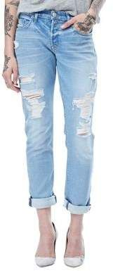 Hudson Jeans Riley Cropped Raw Cuffed Jeans #cute #rippedjeans #styleinspiration #affiliate