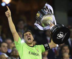 Casillas with the Copa del Rey Trophy  Hala Madrid