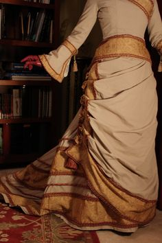 1870s Victorian Bustle Gown by GoldenHind on Etsy
