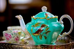 Pearl & Godiva's wonderfully whimsical vintage china teapot!