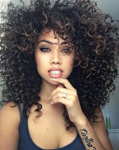 Eseewigs short wigs for black women Short Afro Kinky Curly 260 High Density 100 Brazilian Human Hair 14 inch None Lace Wig with bangs Curly Hair Styles, Natural Hair Styles, Pelo Natural, Natural Baby, Big Hair, Wavy Hair, Black Curly Hair, Messy Hair, Curly Blonde