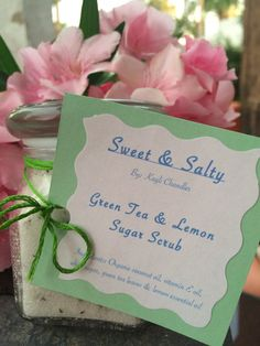 SweetSaltyScrubs: Homemade Green Tea & Lemon Sugar Scrub (: