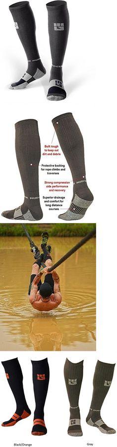 Socks 66095: Race Compression Socks Outdoor Running Socks Mud Runs Grey Gray Large -> BUY IT NOW ONLY: $37.99 on eBay!