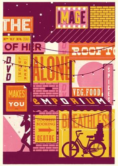 London-based studio Telegramme's screen-printed gig posters and prints tick all the boxes.