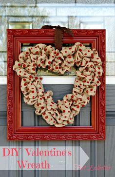 Framed Valentine's Wreath #valentines #wreath