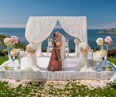 verdadera boda, boda en la playa de Laguna, de la boda california sur, india boda, moderna recepción ¿Jardín | | Colin Cowie Bodas