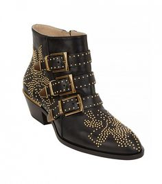 The now-iconic studded ankle boot every fashionista needs in her closet. // Chloé Suzanna Studded Leather Ankle Boot