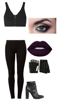 """Untitled #198"" by valerialoman on Polyvore featuring T By Alexander Wang, Dorothy Perkins, ASOS, Majesty Black and Lime Crime"