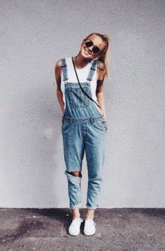 Cute overalls make perfect lazy girl outfits that still look super cute and put together!