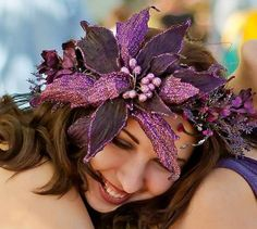 Large Flower Fantasy Floral Hair Wreath Fairy Goddess