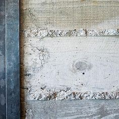 Board-formed concrete walls have the industrial look of concrete & the organic look of wood. via Gardenista