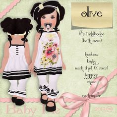 *Baby Pie* Olive Toddleedoo Girls Complete Nautical Themed Floral Outfit *Spring/Summer* 2013