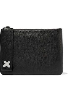Alexander Wang Crux Pouch textured-leather clutch | THE OUTNET