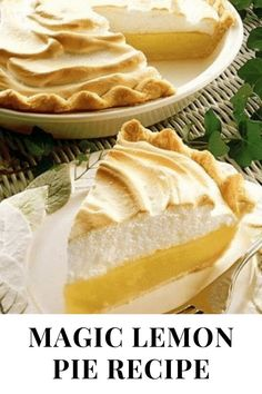 "Created in the early 1900s, this pie was touted as ""magic."" Adding lemon juice to Eagle Brand creates a rich, creamy filling, without cooking, that is easy to make, delicious every time and never fails, even for first-time bakers."