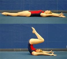 A step-by-step instruction of how to do a back flip -- how to learn a tucked back salto in gymnastics.